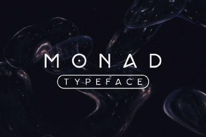 Monad Display Free Typeface