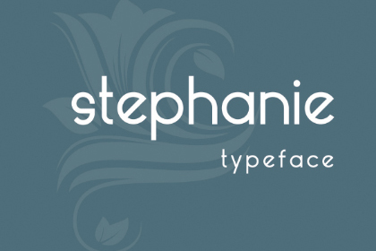 Stephanie Free Display Typeface