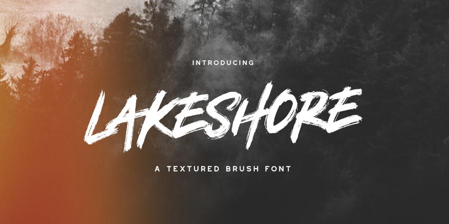 Lakeshore Brush Free Font