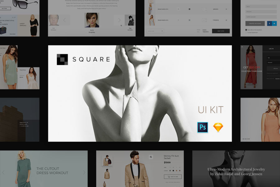 Square UI Kit Free Sample