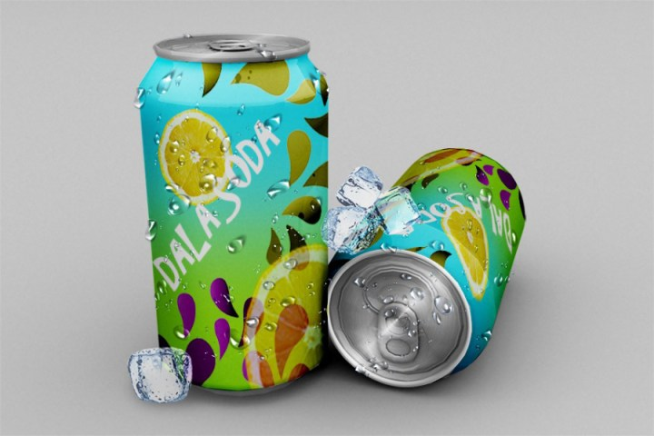 Soda Can Free PSD Mockup