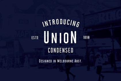 Union Condensed Free Typeface