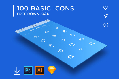 Free 100 Basic Linear Iconset