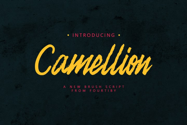 Camellion Brush Free Typeface
