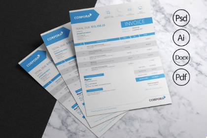 Creative Business Invoice Template