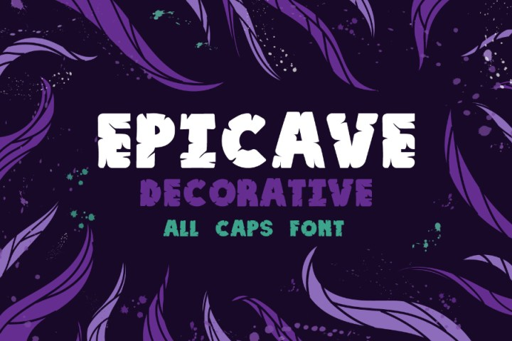 Epicave Free Decorative Font