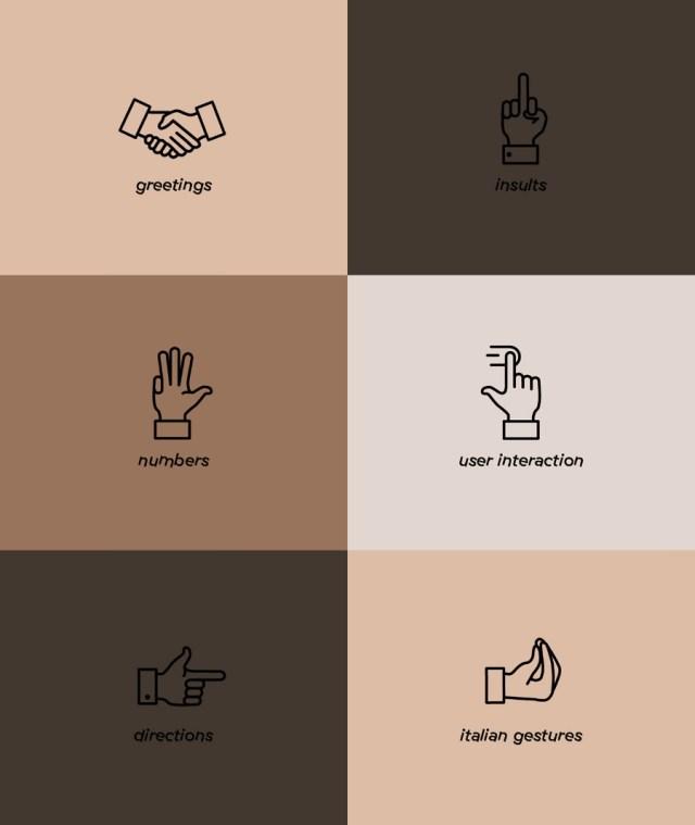 Free Gestures Icon Set