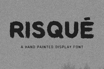 Risque Free Display Font