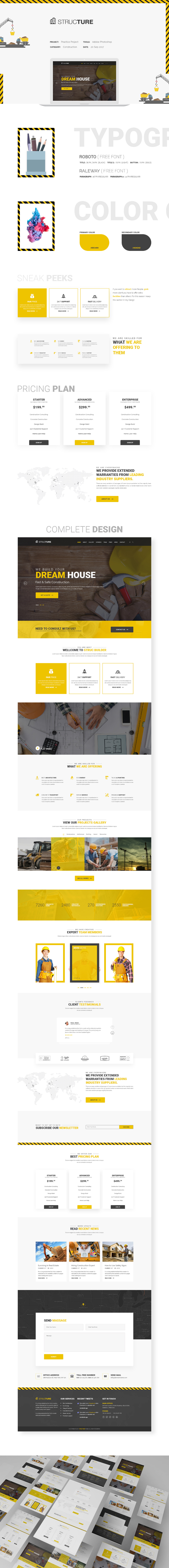 Structure Free PSD Template