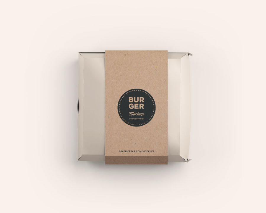 Burger Box Package Mockup