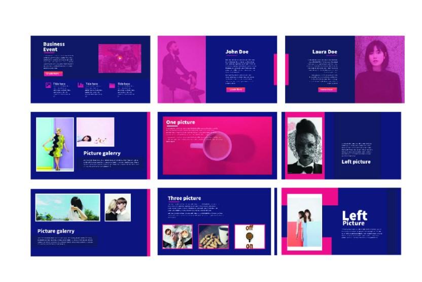 modern minimal presentation template free design resources