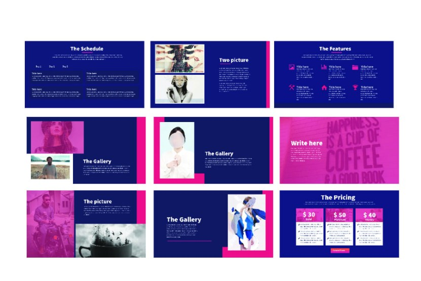 modern minimal presentation template - Minimalist Powerpoint Template Free 2