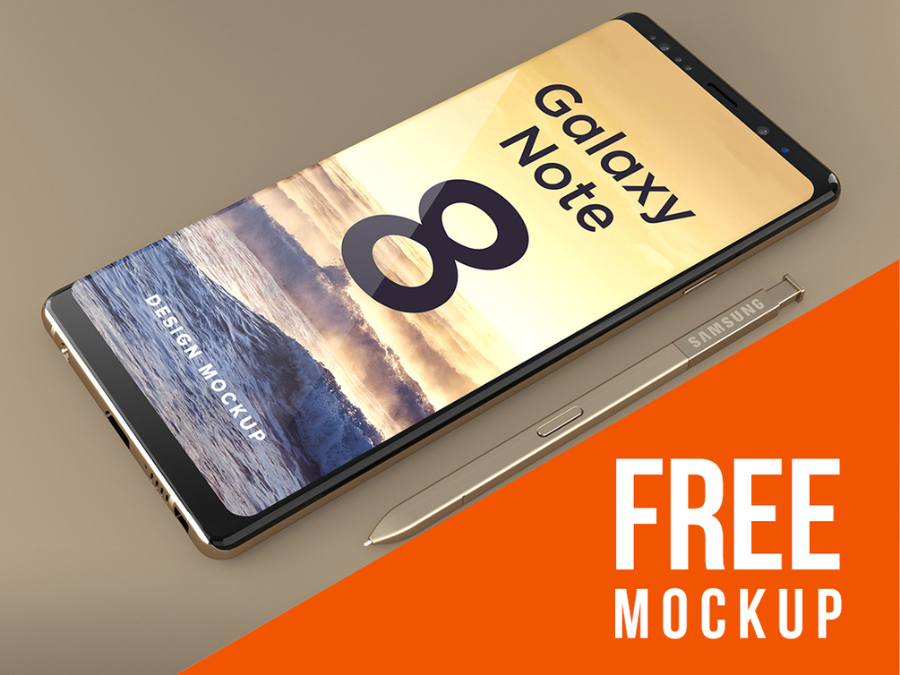 Samsung Galaxy Note 8 Free Mockup