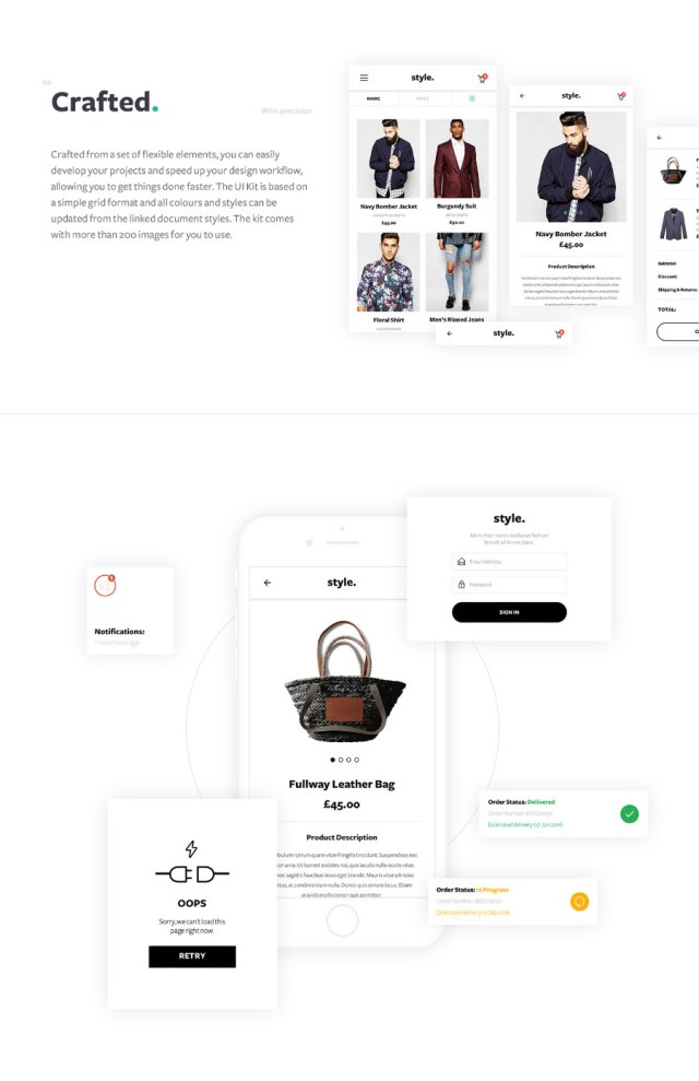Style Free ECommerce UI Kit