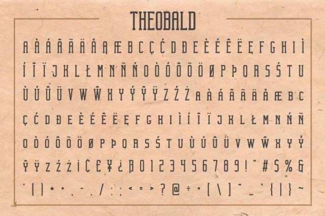 Theobald Clean Free Font