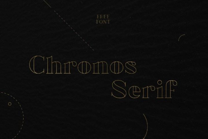 Chronos Serif Free Typeface