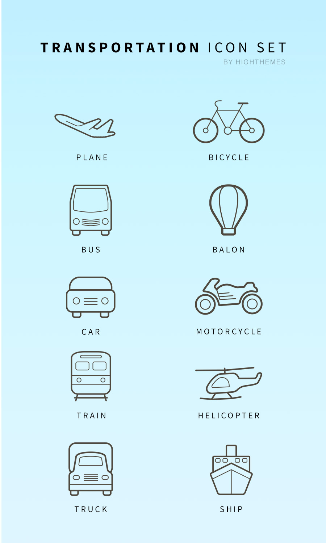 10 Free Transportation Icons