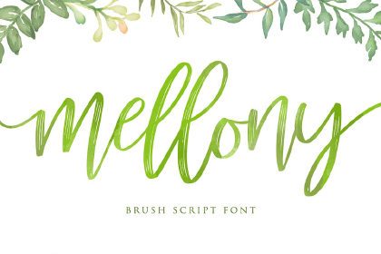 Mellony Brush Script Demo