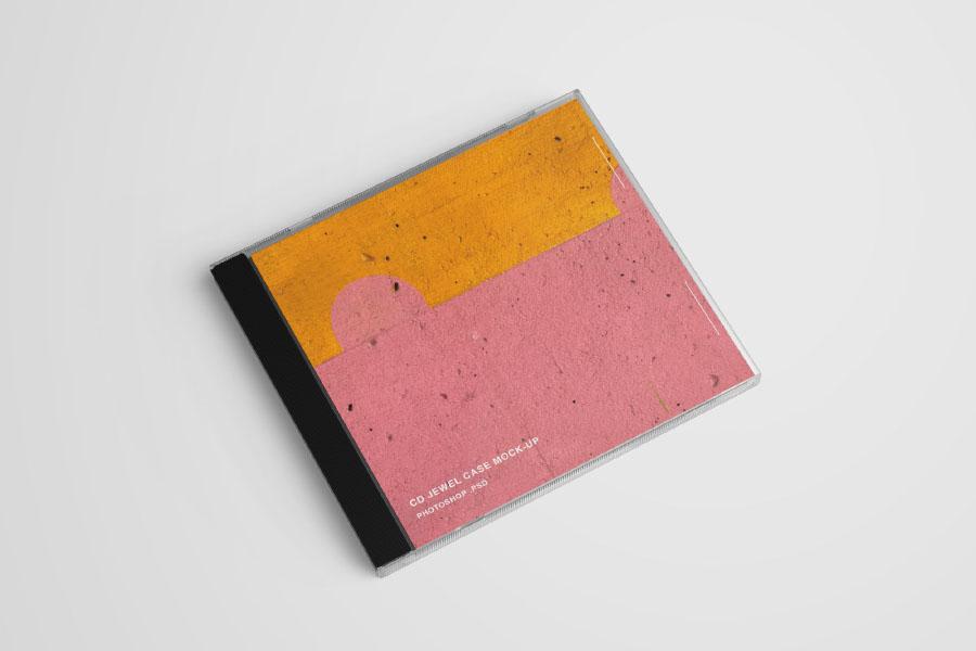Free CD Case PSD Mockup