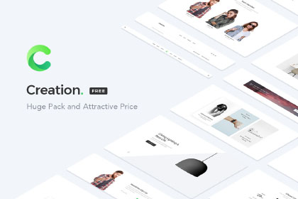 Creation Web UI kit Free Sample