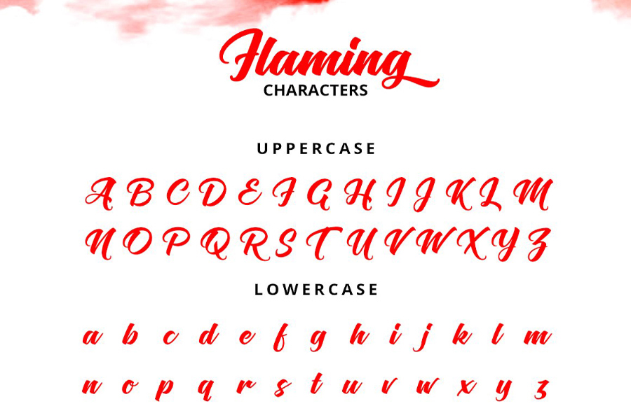 Flaming Script Free Demo