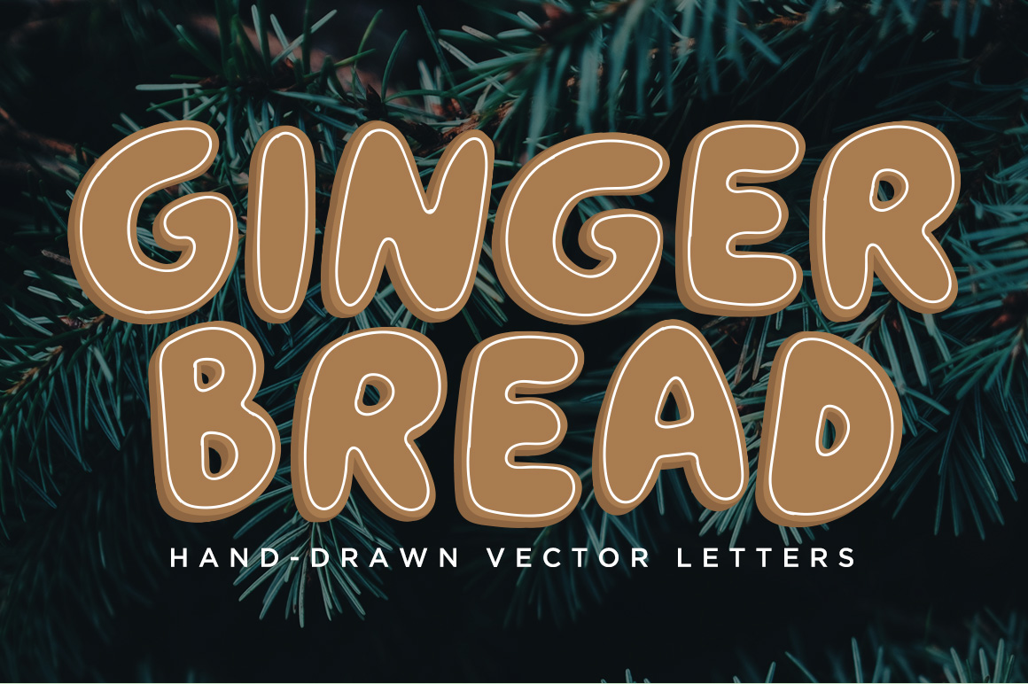 Gingerbread Vector Letters