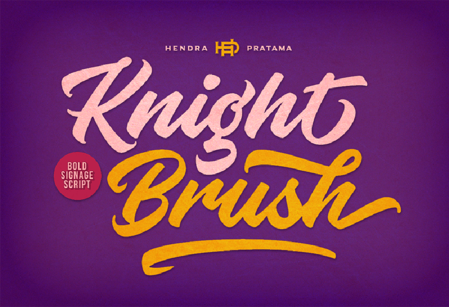 Knight Brush Font Demo