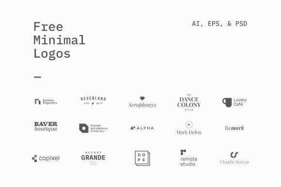 15 Free Minimal Logo Template