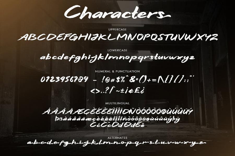 Hitam Bold Handwriting Font Demo