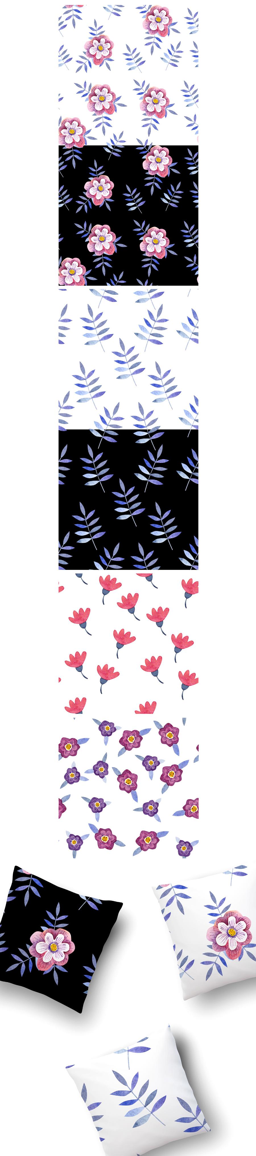 4 Free Hand-drawn Patterns