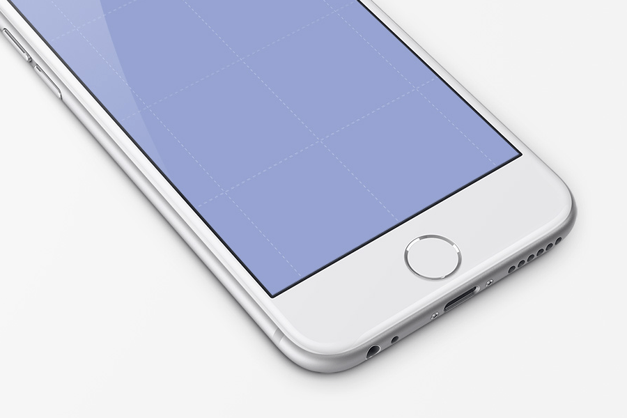 White iPhone Perspective Mockup