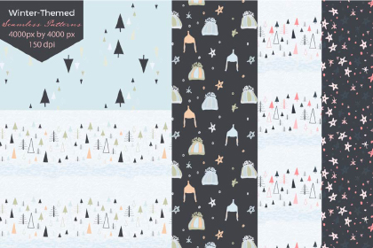 Free Winter Seamless Pattern Pack