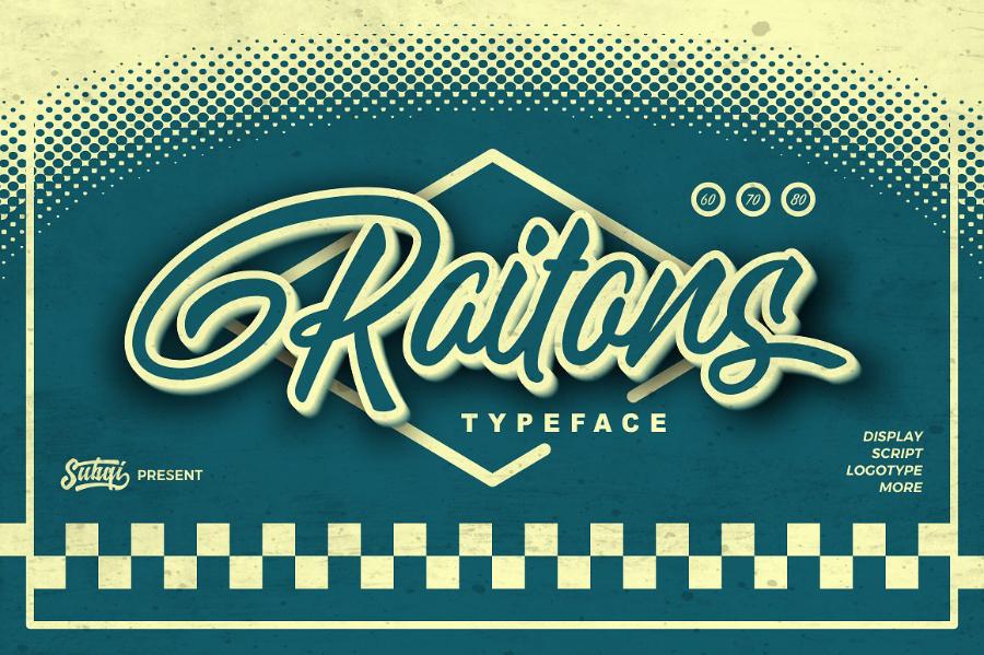 Raitons Script Font Demo