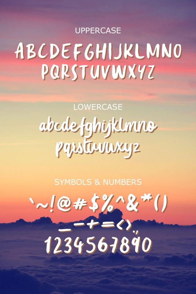 Summer Love Font Demo