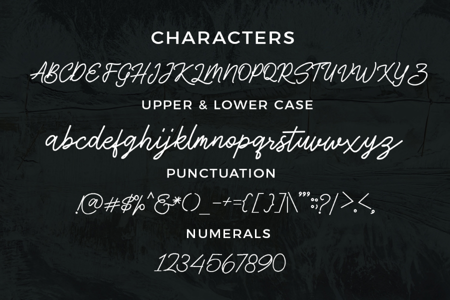 Antique Script Font Demo