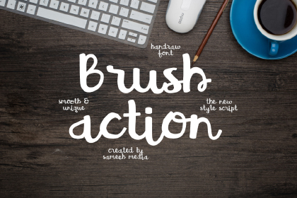 Brush Action Free Typeface
