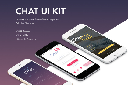 Free Sketch Chat App UI Kit