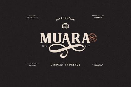 Muara Free Vintage Typeface