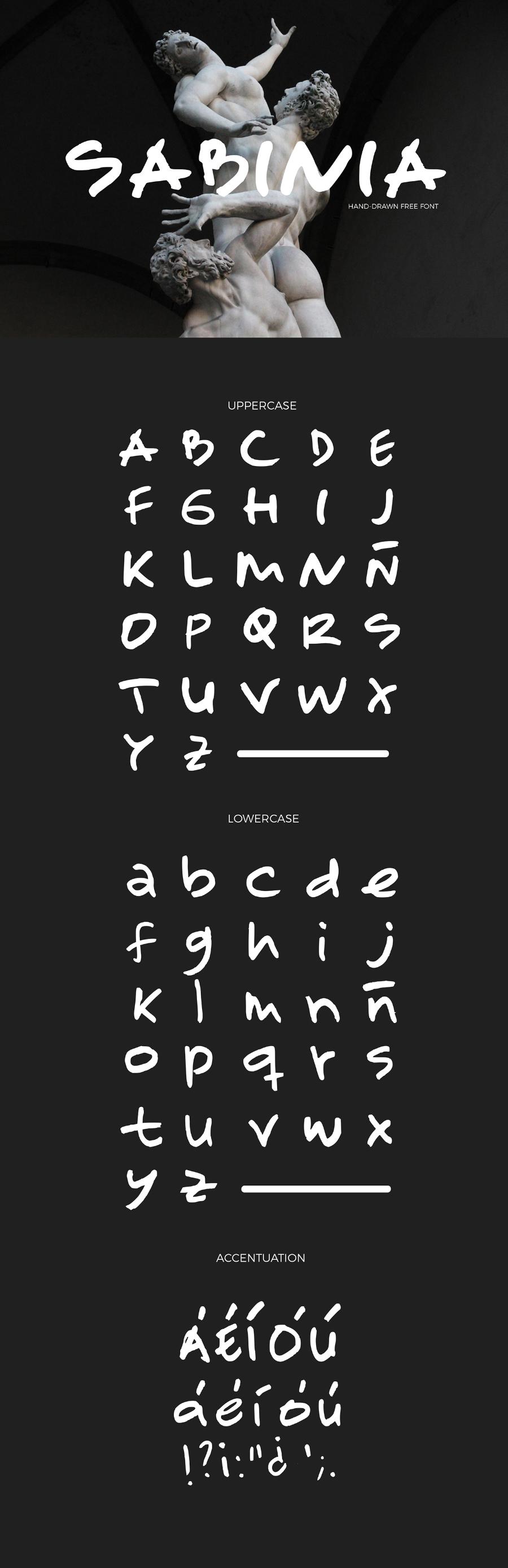 Sabinia Free Handwriting Font