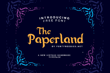 Paperland Free Display Typeface