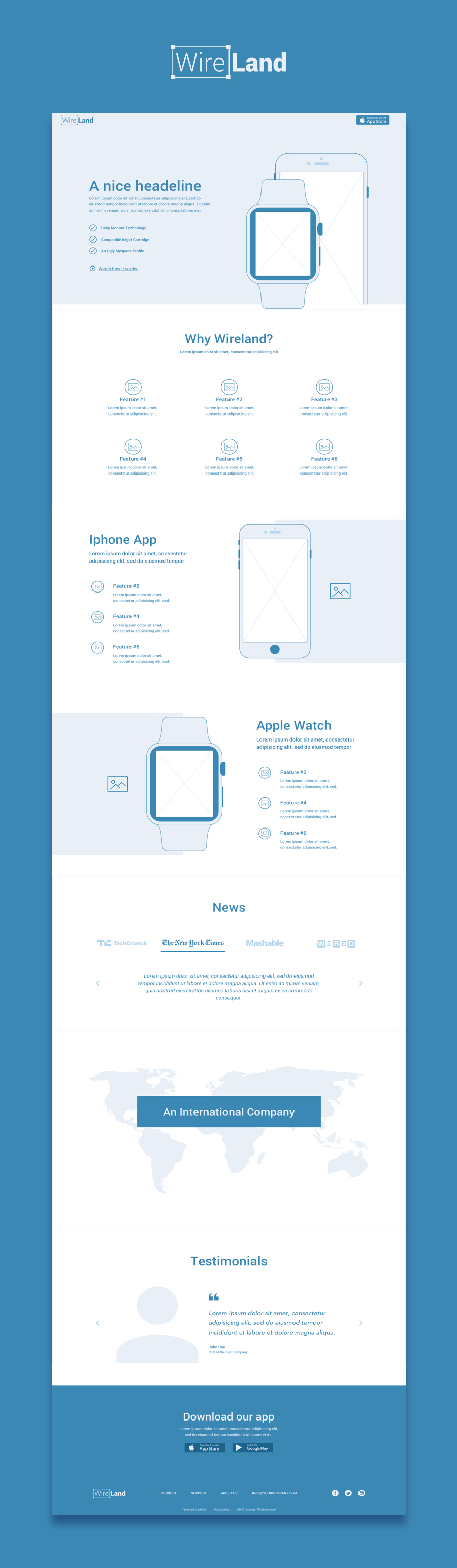 Wireland Sketch Template Demo