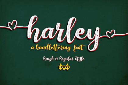 Harley Handlettering Font Demo