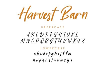 Harvest Barn Font Demo