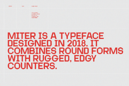 Miter Free Display Font