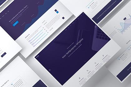 Clean Website Showcase Mockup