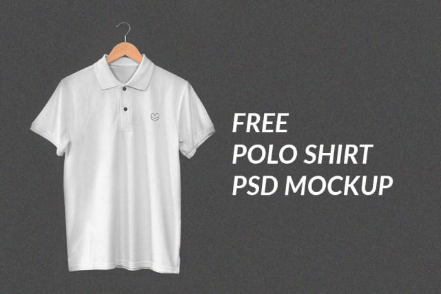 Hanging Polo Shirt PSD Mockup
