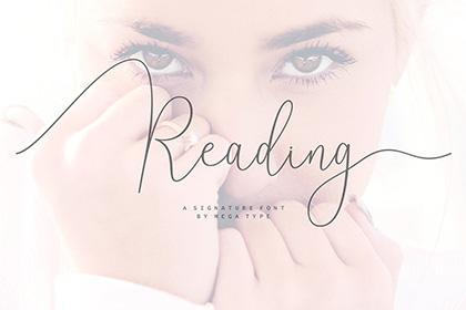Reading Signature Font Demo