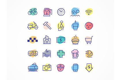 Free Linear Travel Icon Pack