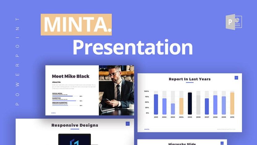 minta free powerpoint template free design resources