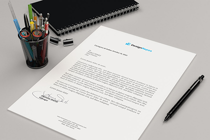 A4 Perspective Paper Mockup